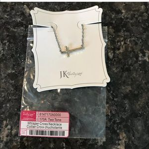 Thirty-One Necklace Whisper Side Cross Necklace